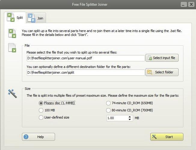 Free File Splitter Joiner