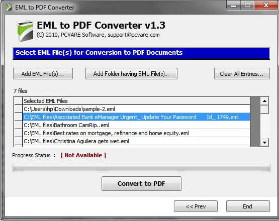 Export EML Emails to PDF