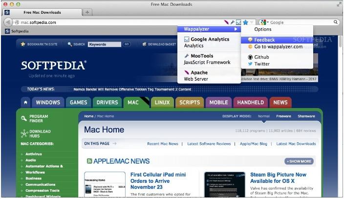 Wappalyze (Firefox) For Mac