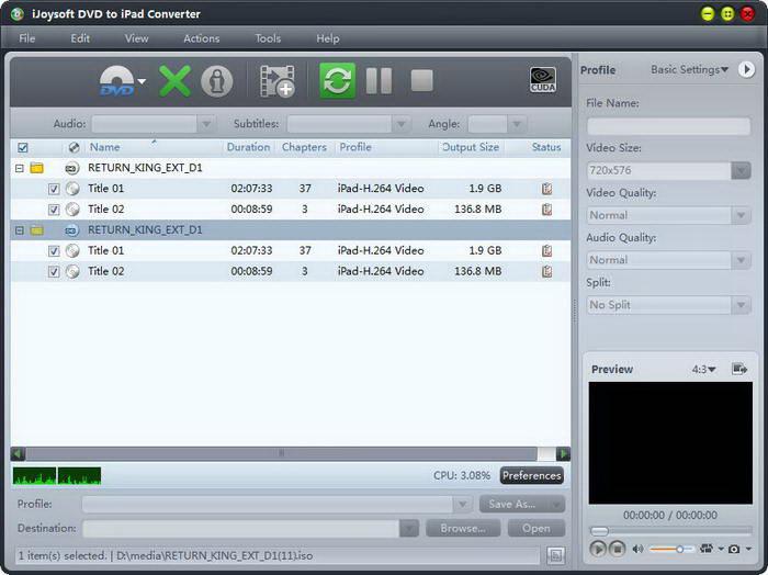 iJoysoft Video Converter platinum for Mac