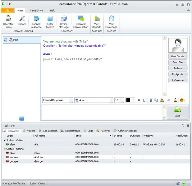 eAssistance Pro Live Chat Software