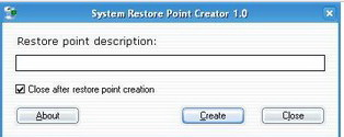 Portable Restore Point Creator