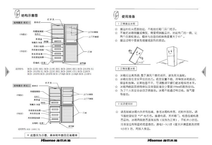 海信BCD-183FH电冰箱使用说明书