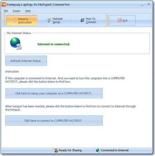 Compaq Laptop to Hotspot Converter
