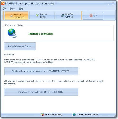 SAMSUNG Laptop to Hotspot Converter
