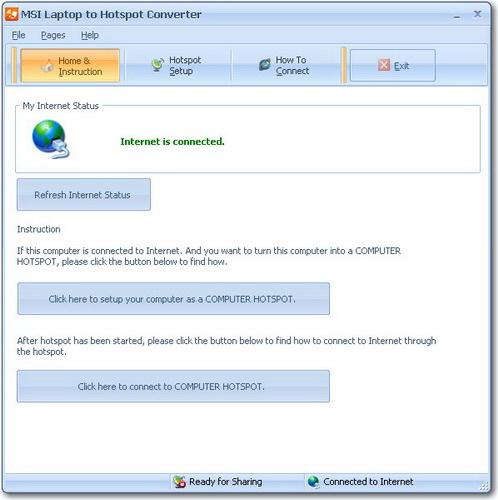 MSI Laptop to Hotspot Converter