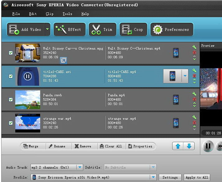 Aiseesoft Sony XPERIA Video Converter