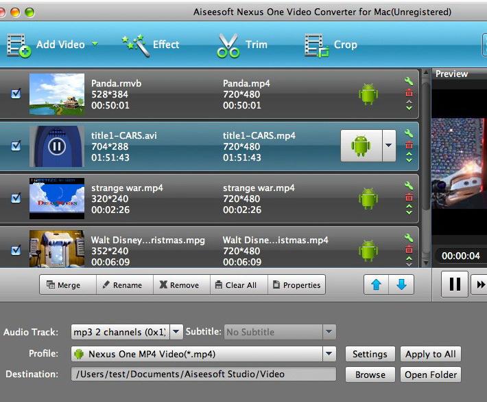 Aiseesoft Nexus One Video Converter for Mac