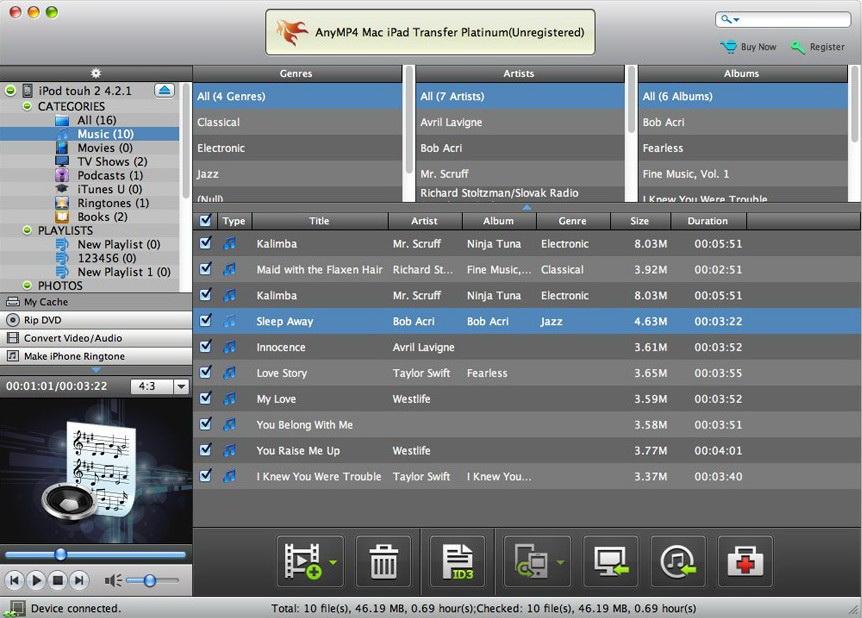 AnyMP4 Mac iPad Transfer Platinum