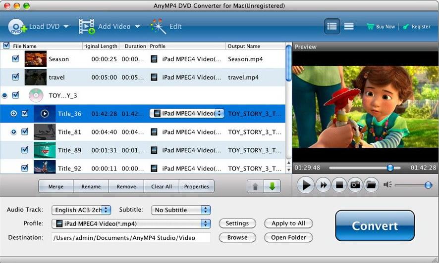 AnyMP4 DVD Converter for Mac