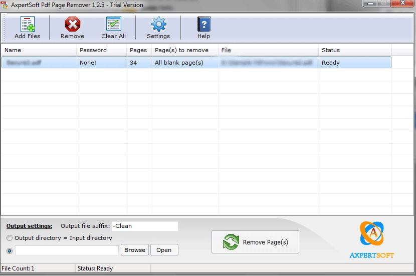 PDF Page Remover