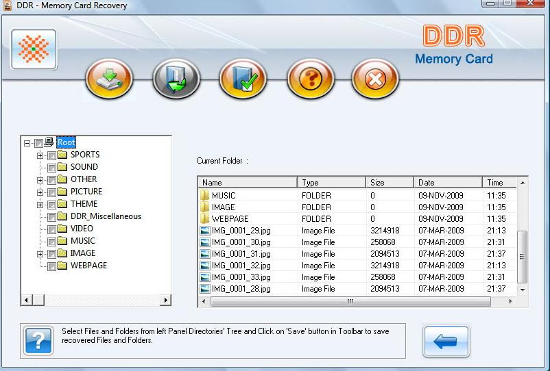 Memory card data restore