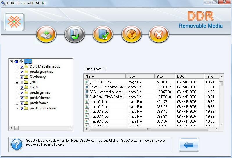 Removable media data restore