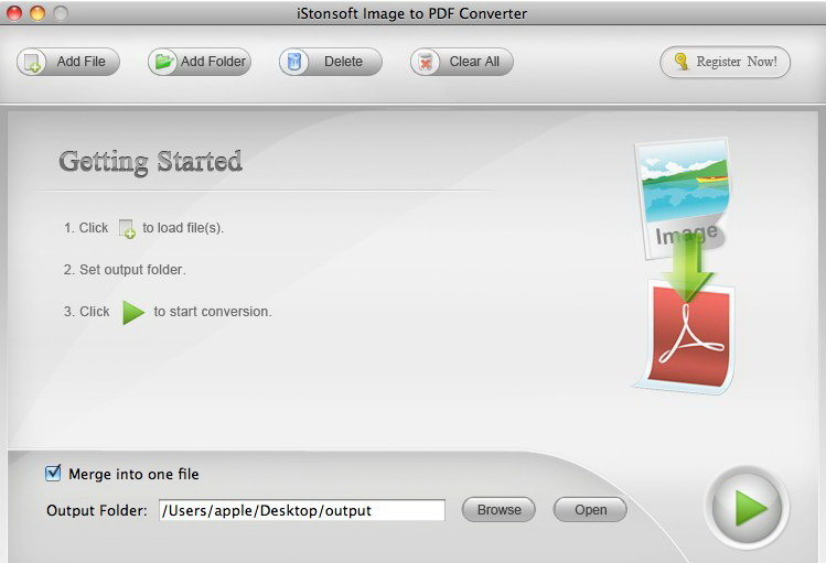 iStonsoft Image to PDF Converter for Mac