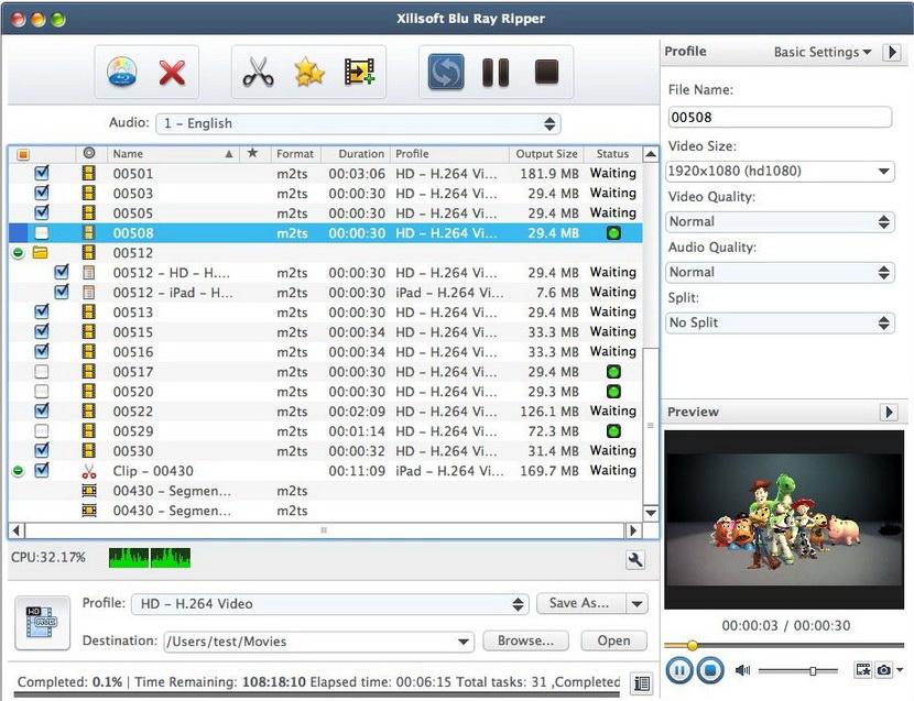 Xilisoft Blu Ray Ripper for Mac