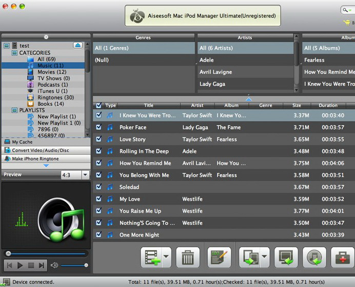 Aiseesoft Mac iPod Manager Ultimate