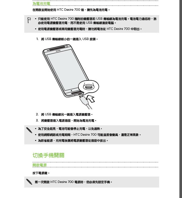 HTC多普达 Desire 700 dual sim手机说明书