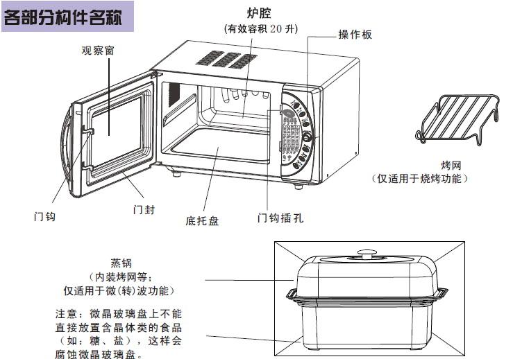 海尔微波炉MP-2485EG(VC)型使用说明书