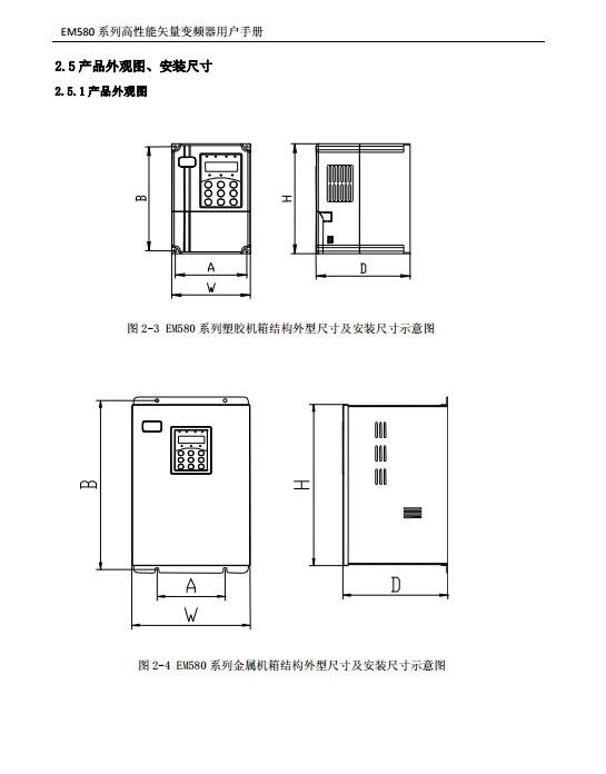 欧华EM580-G200/P220T5高性能矢量变频器使用说明书