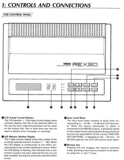 雅马哈REX50声乐处理器说明书