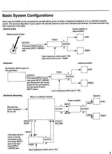 雅马哈FX900声乐处理器说明书