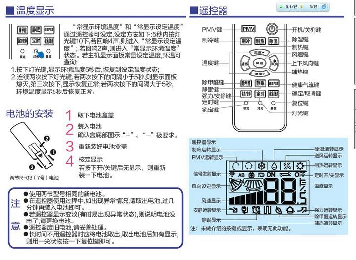 海尔kfr-35gw/06nha23a家用空调使用安装说明书