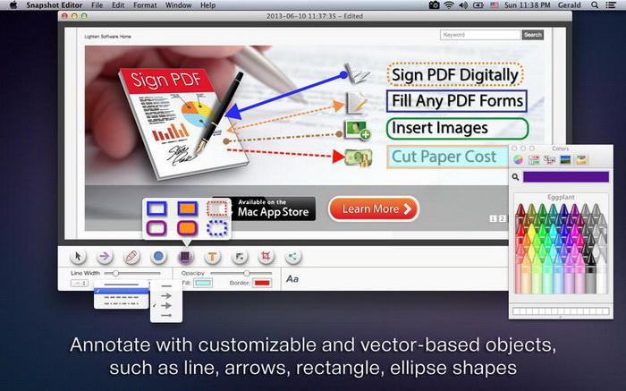 Snapshot Editor For Mac