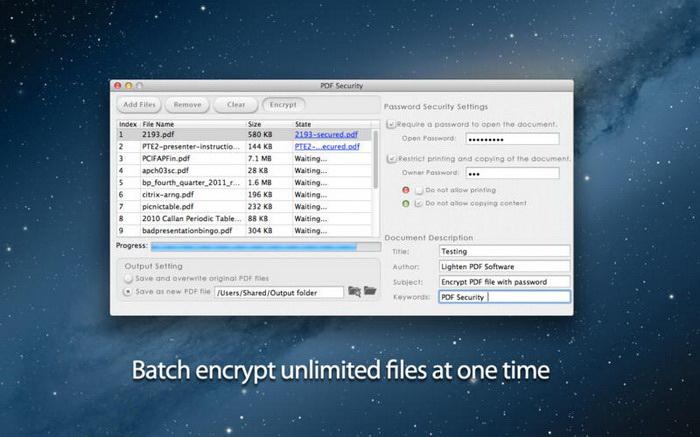 PDF Secuity For Mac