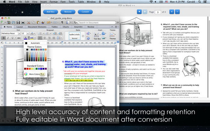 PDF to Word OCR For Mac