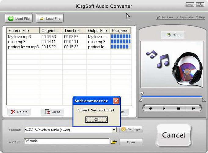 iOrgSoft Audio Converter For Mac