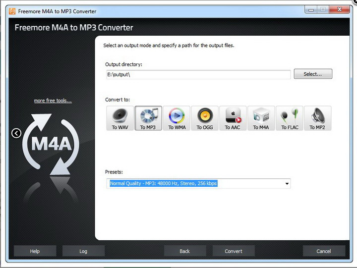 Freemore M4a to MP3 Converter