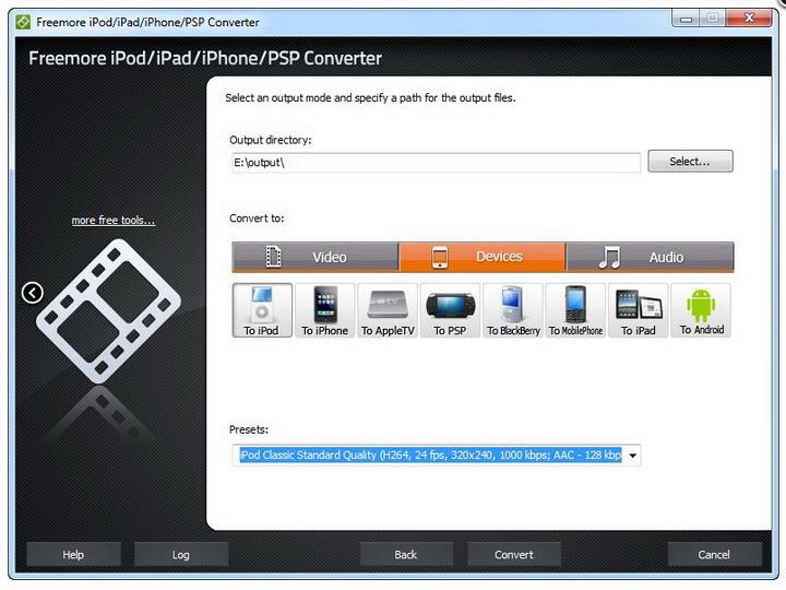 Freemore iPod/iPad/iPhone/PSP Converter