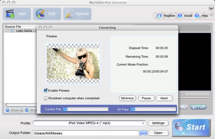 MacVideo iPad Converter For Mac