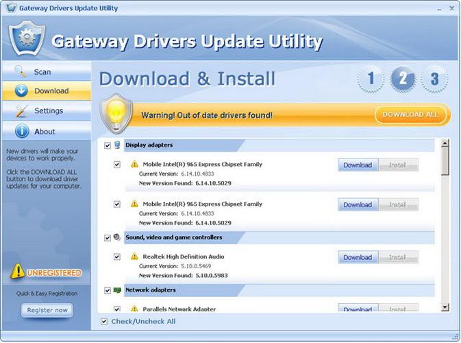 Gateway Drivers Update Utility
