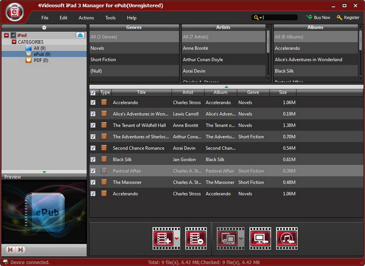 4Videosoft iPad 3 Manager for ePub