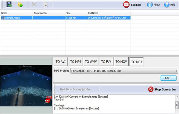 Boxoft MPEG Converter