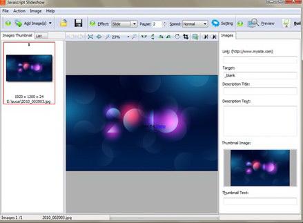 Boxoft JavaScript SlideShow Builder