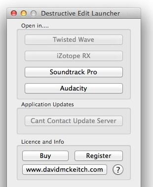 Destructive Edit Launcher for Logic Pro