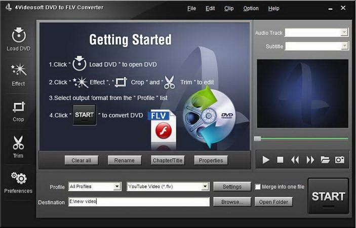 4Videosoft DVD to FLV Converter for Mac