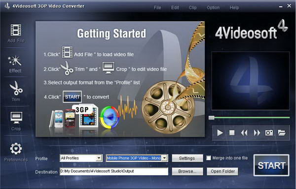 4Videosoft 3GP Converter for Mac
