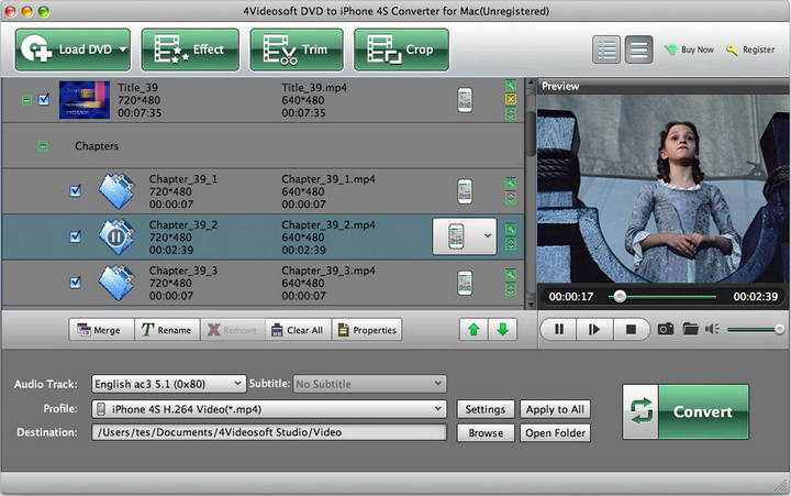 4Videosoft DVD to iPhone 4S Converter for Mac