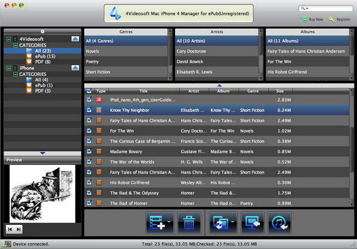 4Videosoft Mac iPhone 4 Manager for ePub