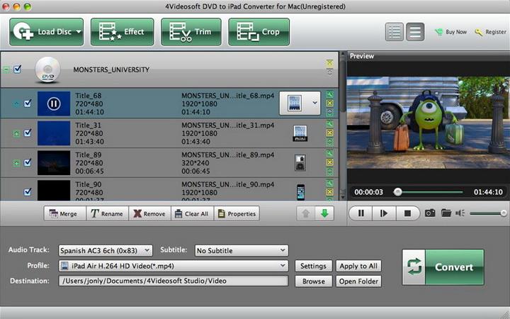 4Videosoft DVD to iPad Converter for Mac
