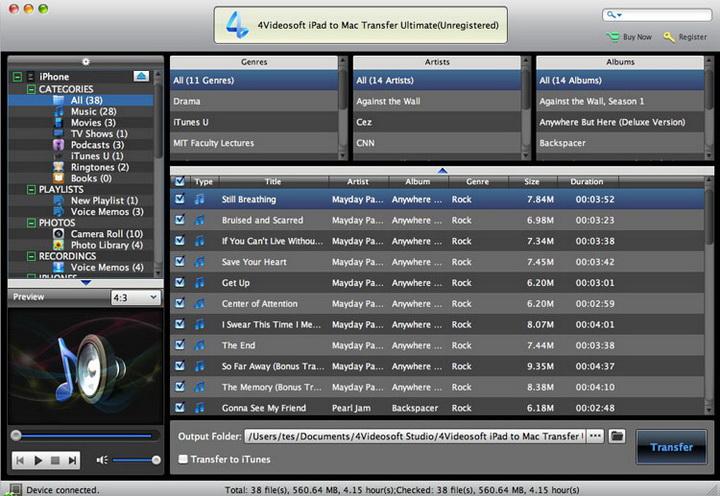 4Videosoft iPad to Mac Transfer Ultimate
