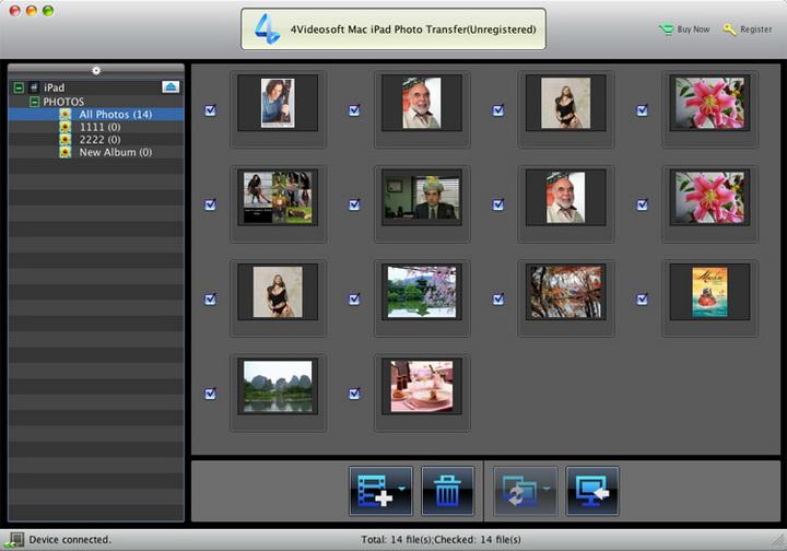 4Videosoft Mac iPad Photo Transfer