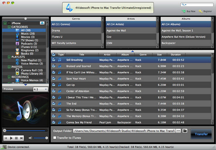 4Videosoft iPhone to Mac Transfer Ultimate