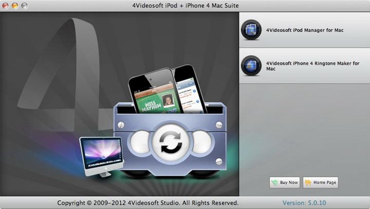4Videosoft iPod iPhone 4 Mac Suite