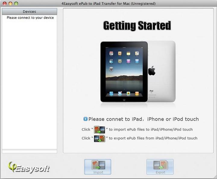4Easysoft ePub to iPad Transfer for Mac