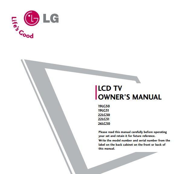 LG 19LG31液晶彩电用户手册