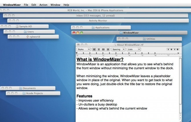 WindowMizer For Mac